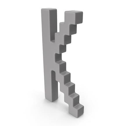 K  Letter Grey
