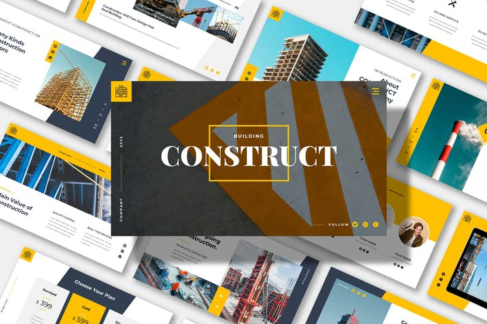 CONSTRUCT Business Powerpoint Template