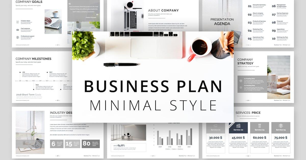Download Minimal Style Business Plan Presentation by Premast