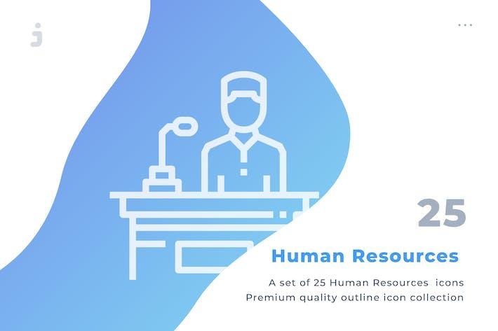Thumbnail for 25 Kit de iconos de Recursos Humanos