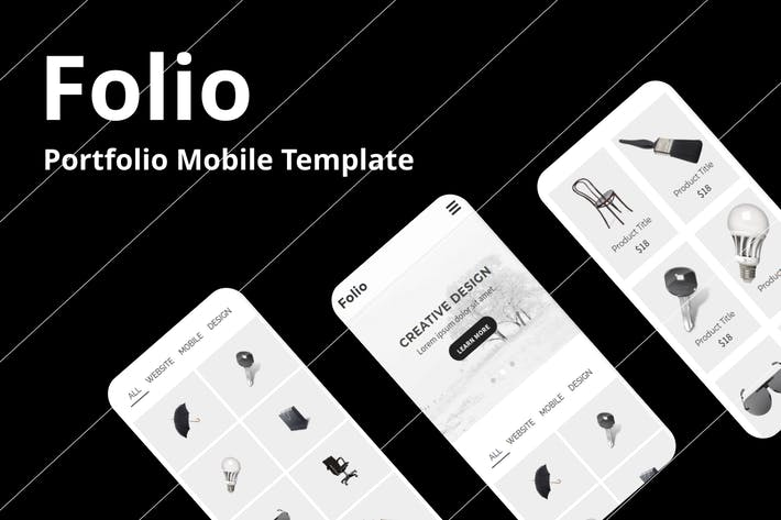 Thumbnail for Folio - Portfolio Mobile Template
