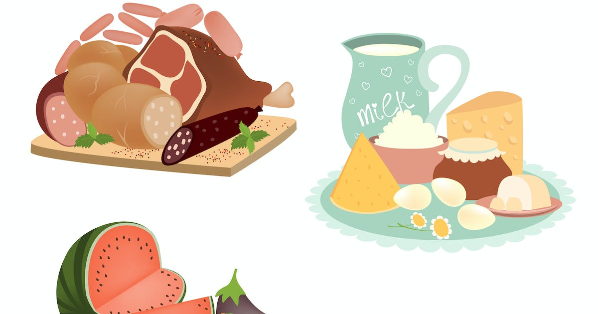 Download Collection of food items. Vector isolated by masastarus
