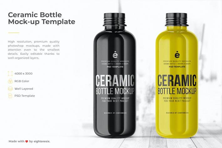 Thumbnail for Ceramic Bottle Mock-Up Template