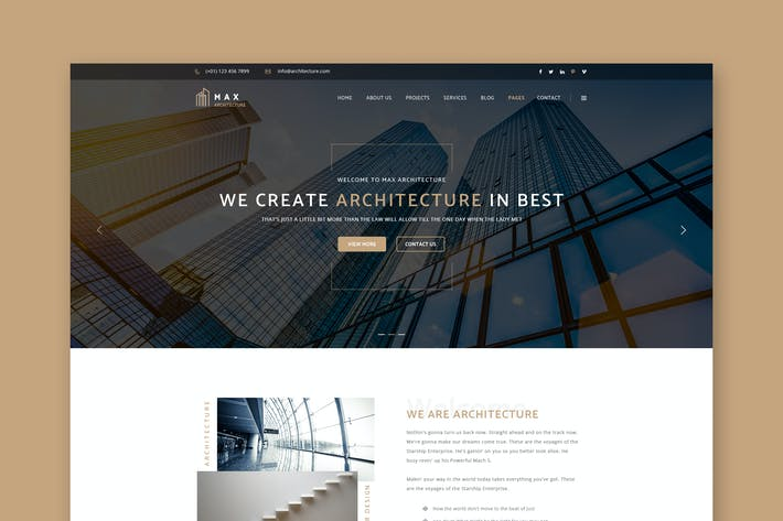 Thumbnail for Architecture Premium Architects PSD Template