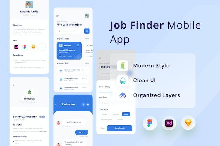 Thumbnail for Appli de recherche d'emploi