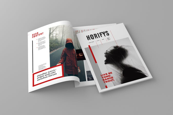 Cover Image For Horifys - Magazine Template