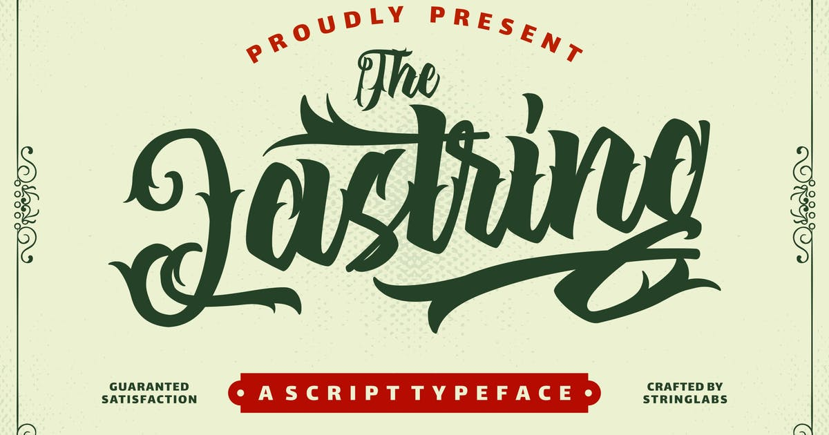 Download The Lastring - Tattoo Script Font by StringLabs
