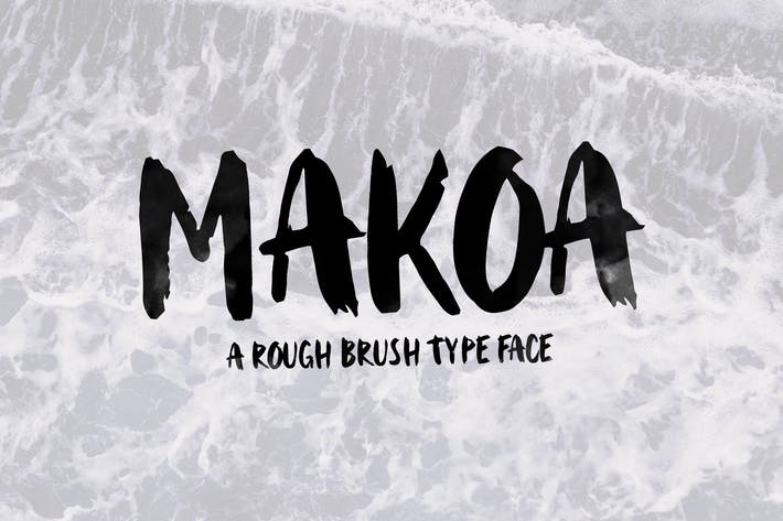 Thumbnail for Makoa - Rough Brush Font