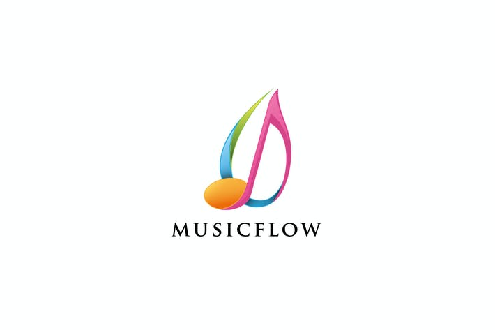 Thumbnail for Music Flow - Logo Template