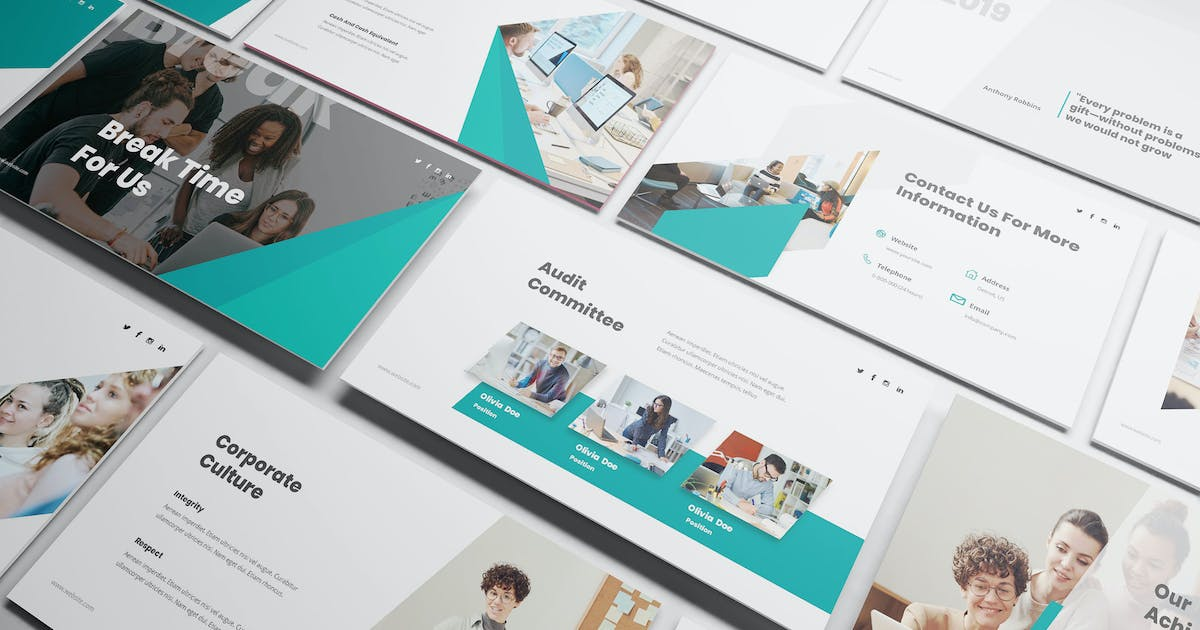 Download Annual Report Powerpoint Template by Formatika