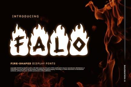 Falo - Flaming Decorative Font