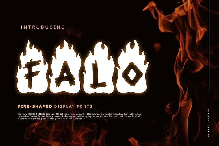 Thumbnail for Falo - Flaming Decorative Font