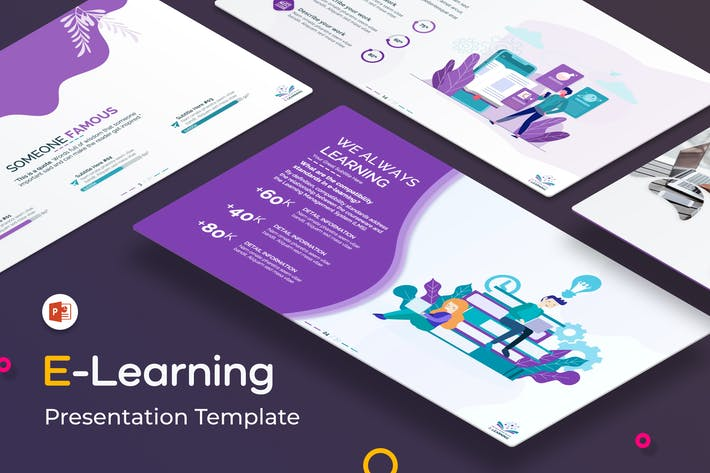 Thumbnail for E-Learning PowerPoint Presentation Template