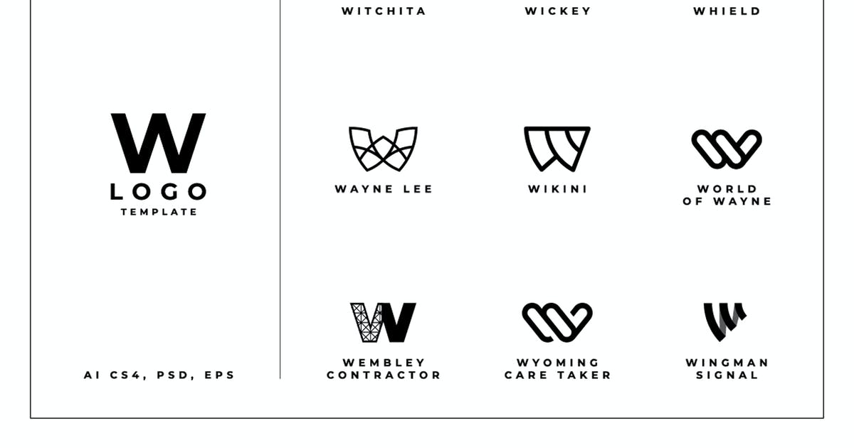 Download W Logo Template by dannyaldana