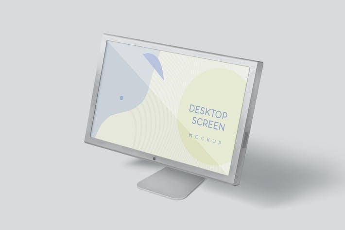 Thumbnail for Desktop Screen Mockup Set