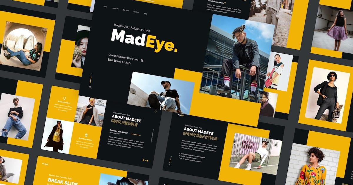 Download MadEye - Streetwear Keynote Template by CocoTemplates
