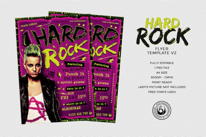 Thumbnail for Hard Rock Flyer Template V2