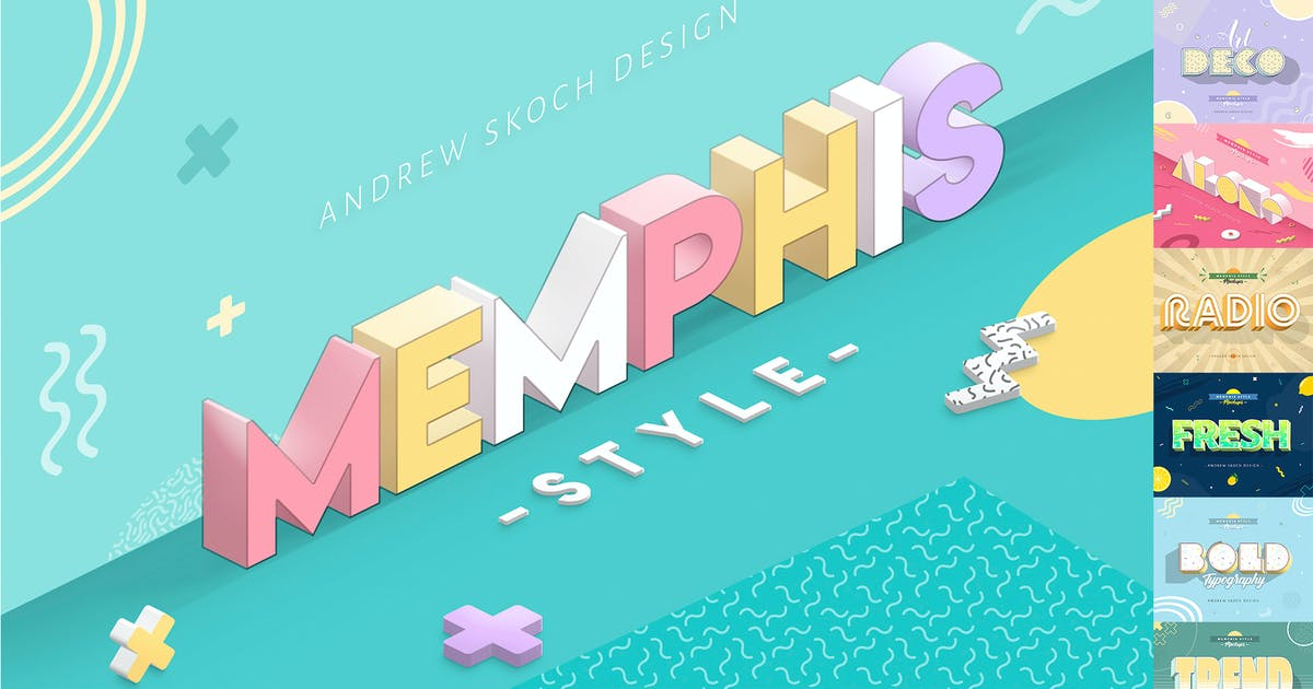 Download Memphis Style - Text Effects by Sko4