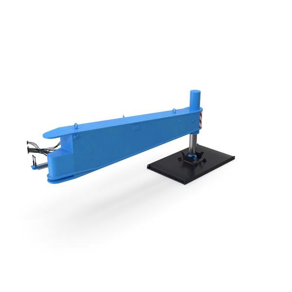 Кран Outrigger Большой Синий