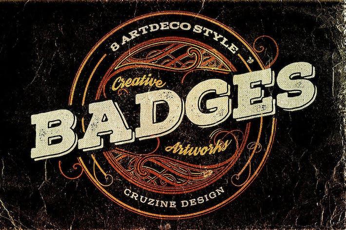 Thumbnail for 8 Insignias estilo Artdeco