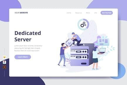 Dedizierter Server — Zielseite