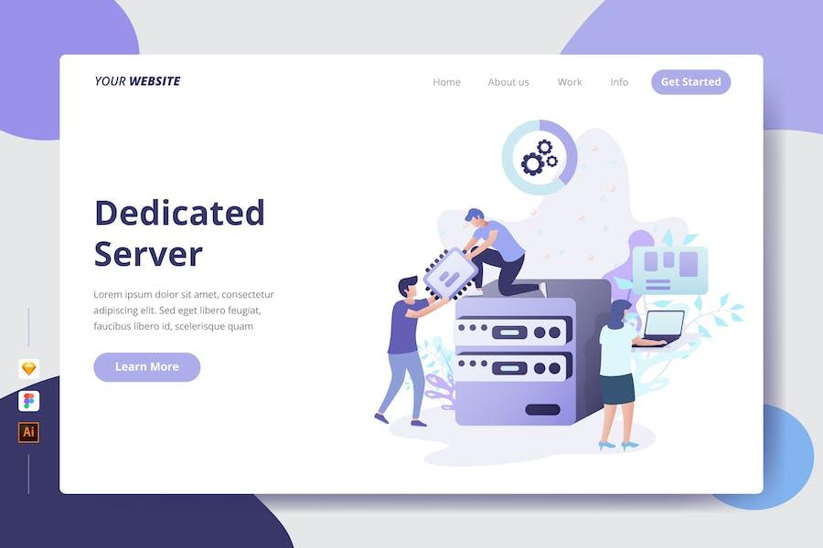 Dedicated Server - Landing Page