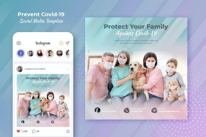 Coronavirus Prevention Instagram Template