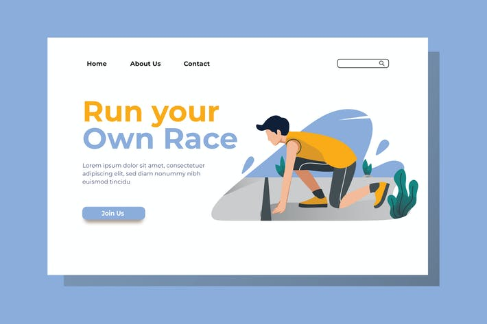 Cover Image For Run your Own Race Landing Page Illustration