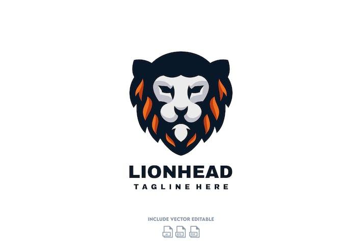 Thumbnail for Lion Head Logo Design Template