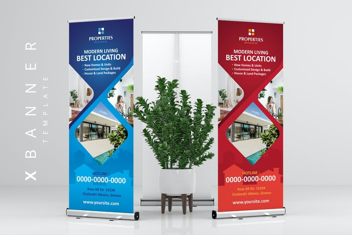 Thumbnail for XBanner Stand Roll Up Banner for Property Business