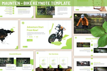 Maunten - Bike Keynote Template