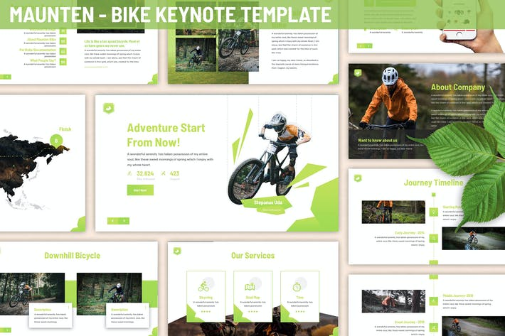 Thumbnail for Maunten - Bike Keynote Template