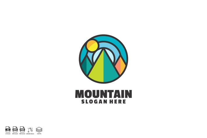 Forest Mountain Sun Logo