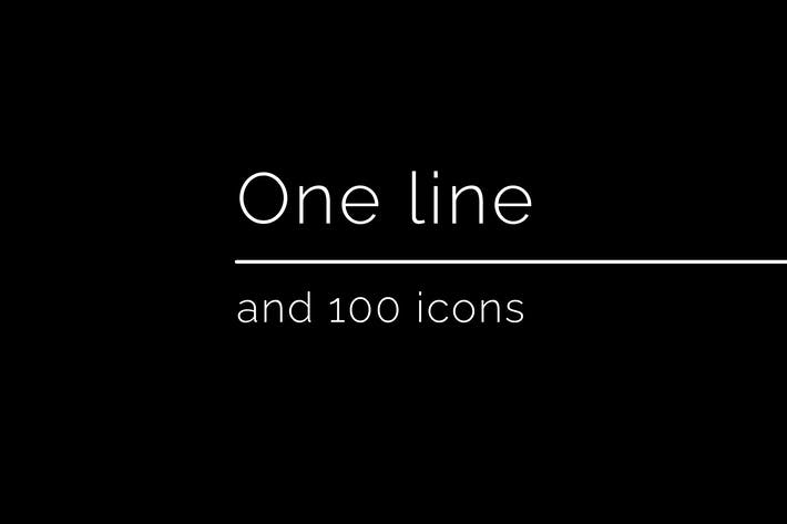 Thumbnail for Unoline Icons Set