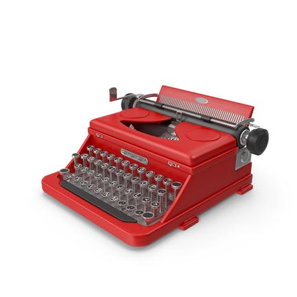 Máquina de escribir (Rojo)