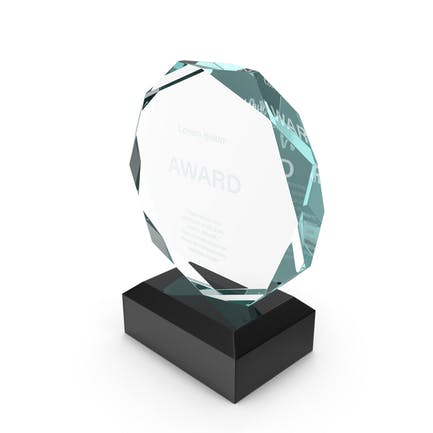 Octahedron Glass Award Trophy