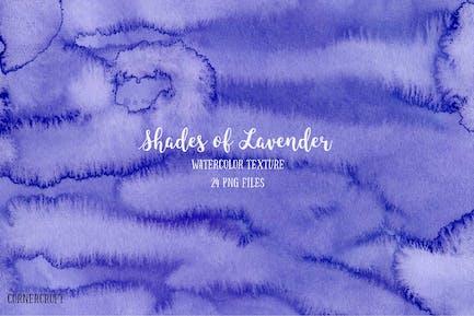 Aquarell Textur Schattierungen von Lavendel