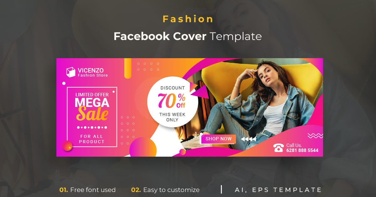 Download Fashion r5 Facebook Cover Template by youwes