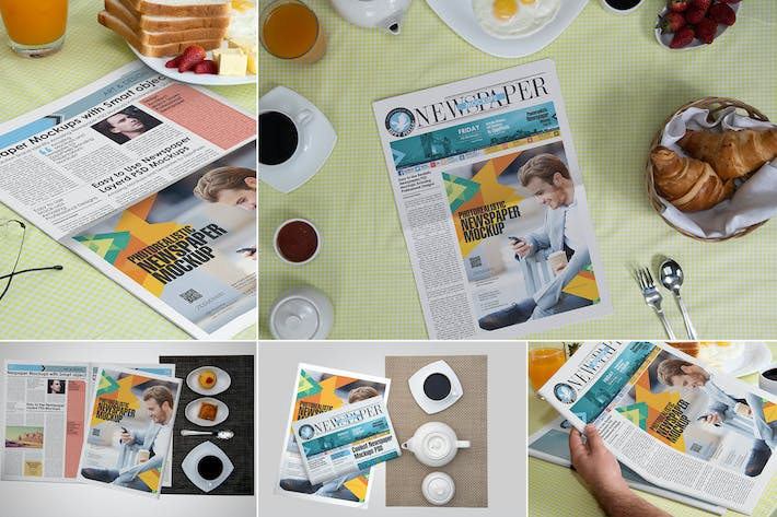 Thumbnail for Newspaper Ad Design Mockups