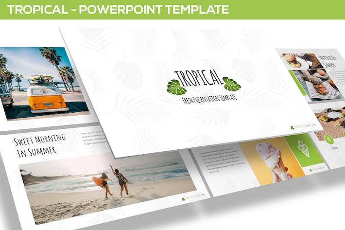 Thumbnail for Tropical - Powerpoint Template