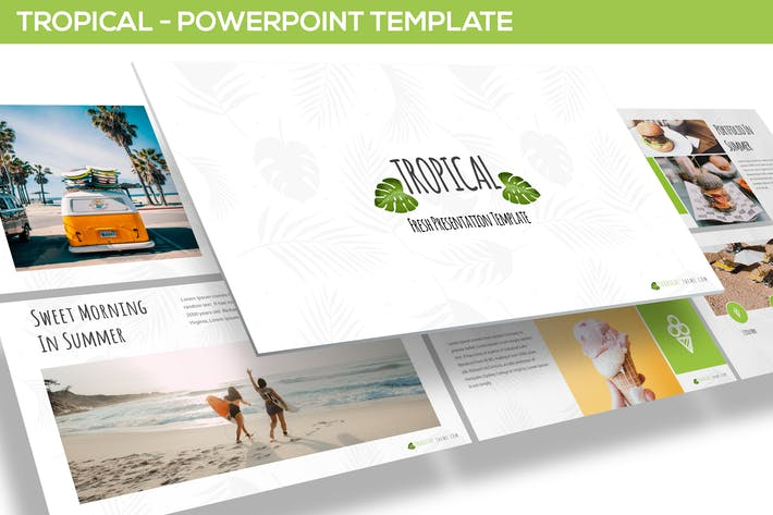 Тропический — Шаблон Powerpoint