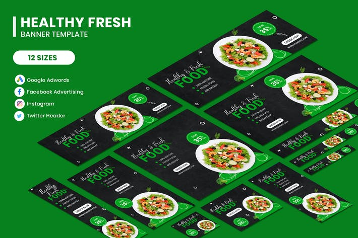 Thumbnail for Healthy Fresh Food Banner Template