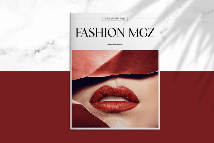 Cover Image For Fashion MGZ Layout