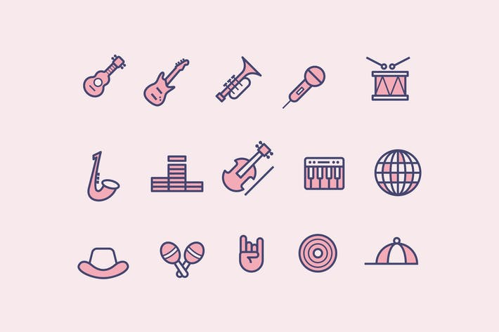 Thumbnail for 15 Music Genre Icons