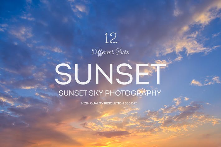 Thumbnail for Sunset Sky Backgrounds