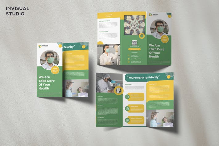 Thumbnail for Medical Trifold Brochure Template