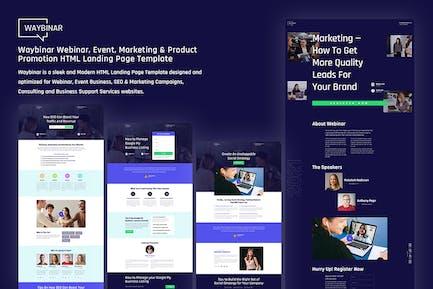 Waybinar - Webinar & Event HTML Landing Page