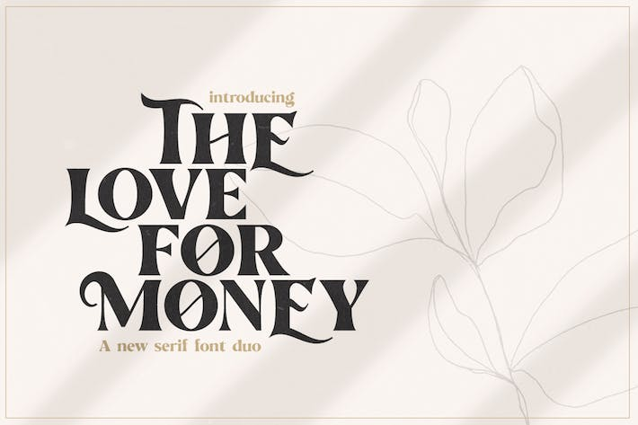 Thumbnail for The Love For Money Font Duo