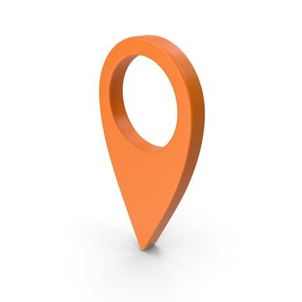 Знак местоположения на карте оранжевый