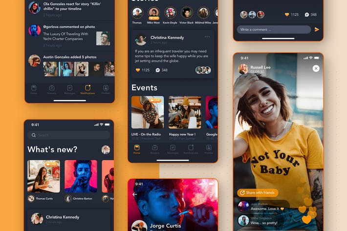 Thumbnail for Social Mobile UI Concept